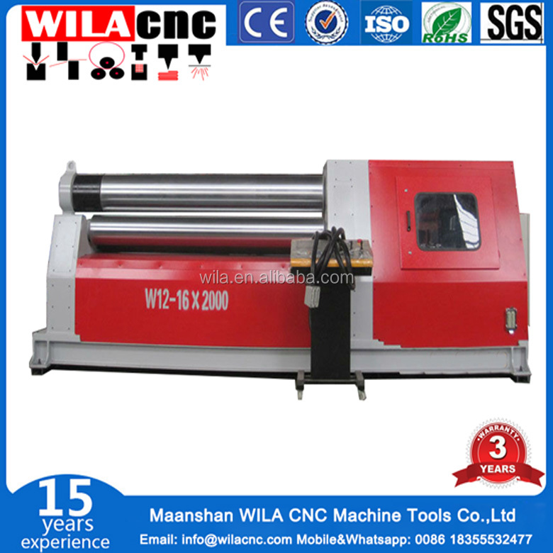 Hydraulic Power Roller universal three-roll bending machine from Nanjing WILACNC