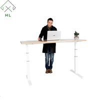 Two Legs Height Adjustable Table Electric Lifting Office Desk