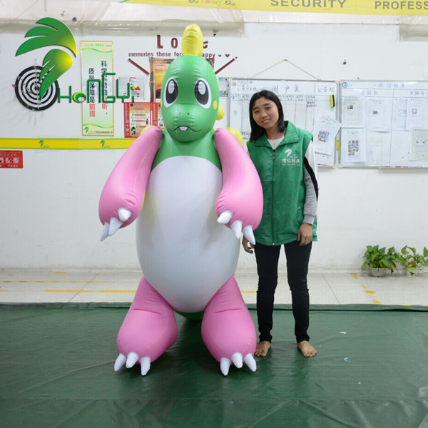 Hongyi Inflatable Green Pink Dragon Inflatable Sex