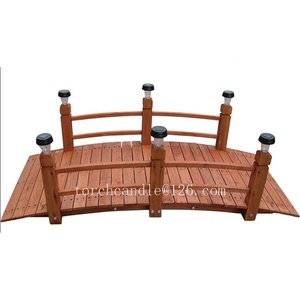 Patio Wooden Decorative Garden Bridges with rail on two besides