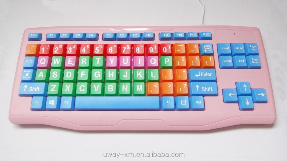 Colorful children keyboard,computer keyboard