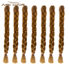 Aisi Hair Jumbo Braiding Hair Extension YAKI Straight Expression Braid Hair Heat Resistant Fiber Hairpieces