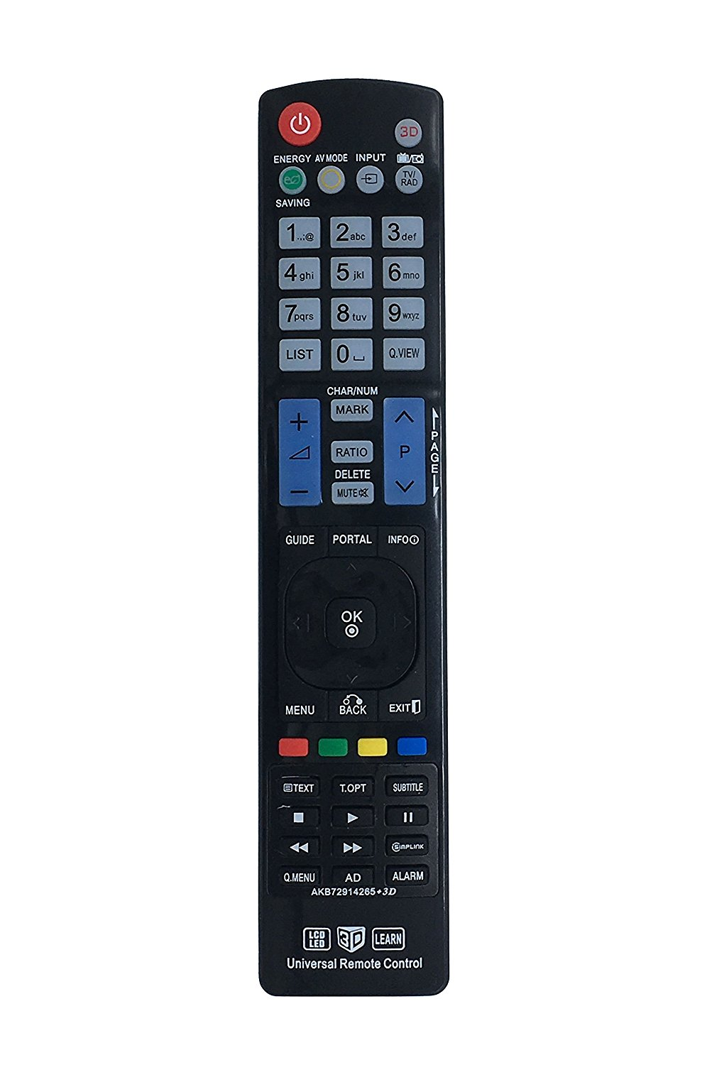 New Vinabty Replaced REMOTE AKB72914265 fit for LG 3D LCD LED HDTV TV Sub for Remote AKB69680409 AKB72915238 AKB72914207 AKB72914240 AKB72914003 AKB72914240 MKJ33981422 and more