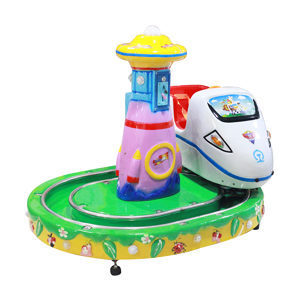 Muntautomaat kinderen game machine kiddie rides kid elektrische trein