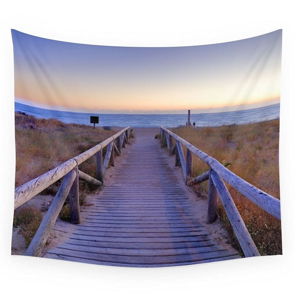 """Society6 The Path..., The Beach.... Wall Tapestry Small: 51"""" x 60"""""""