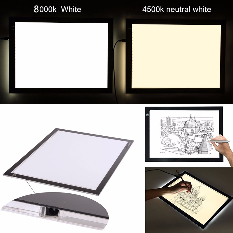 Licht Box Pad schlanke tracing panel für tattoo licht box tragbare licht tisch LED Schreibtafel Tracing Lightb