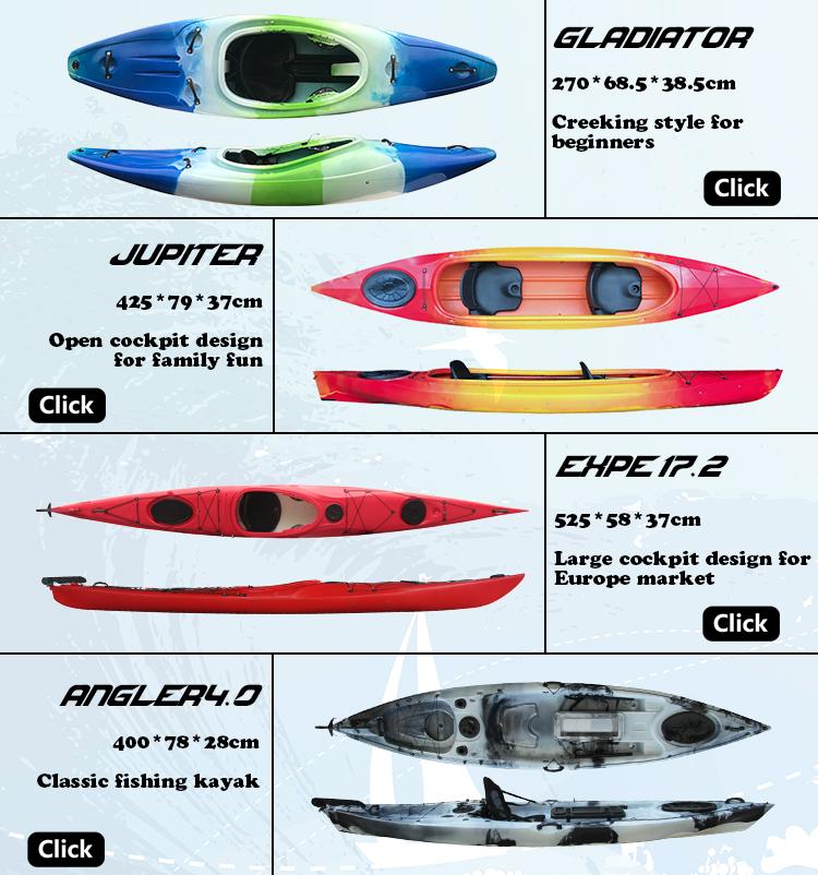 LIKER KAYAK Cheap plastic c1 fishing motorized canoe paddles kayak canadian wood outrigger canoe for sale