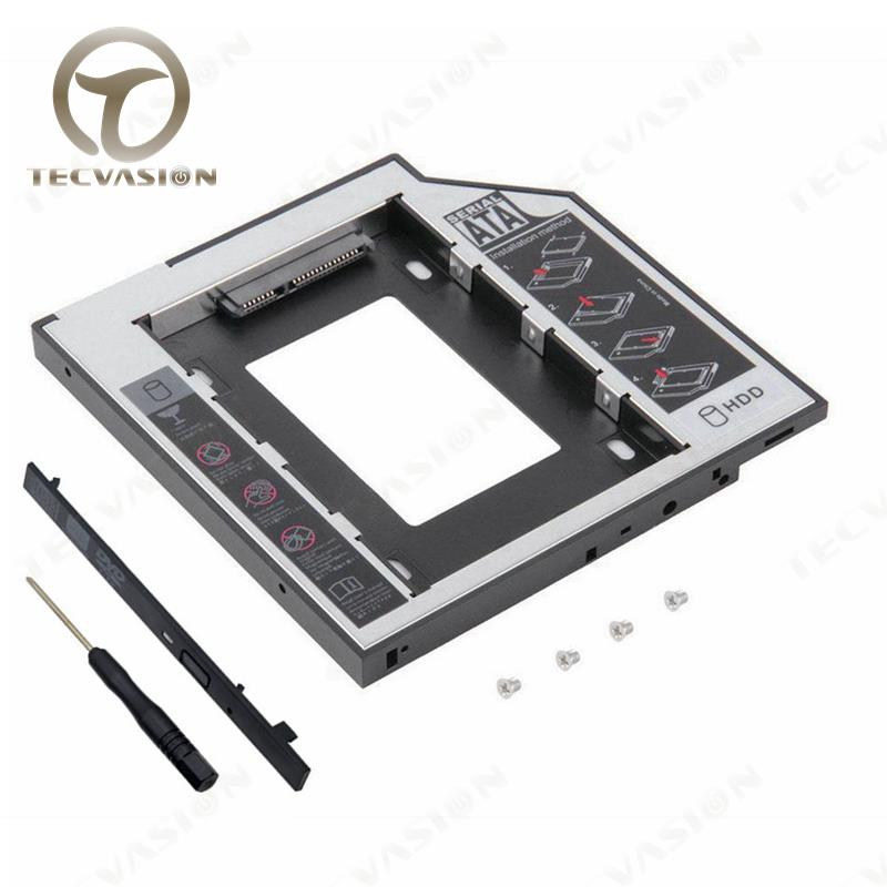 12.7mm sata to sata caddy for dell alienware 18 17 2nd hdd caddy for laptop with 12.7mm sata odd bay with high quality