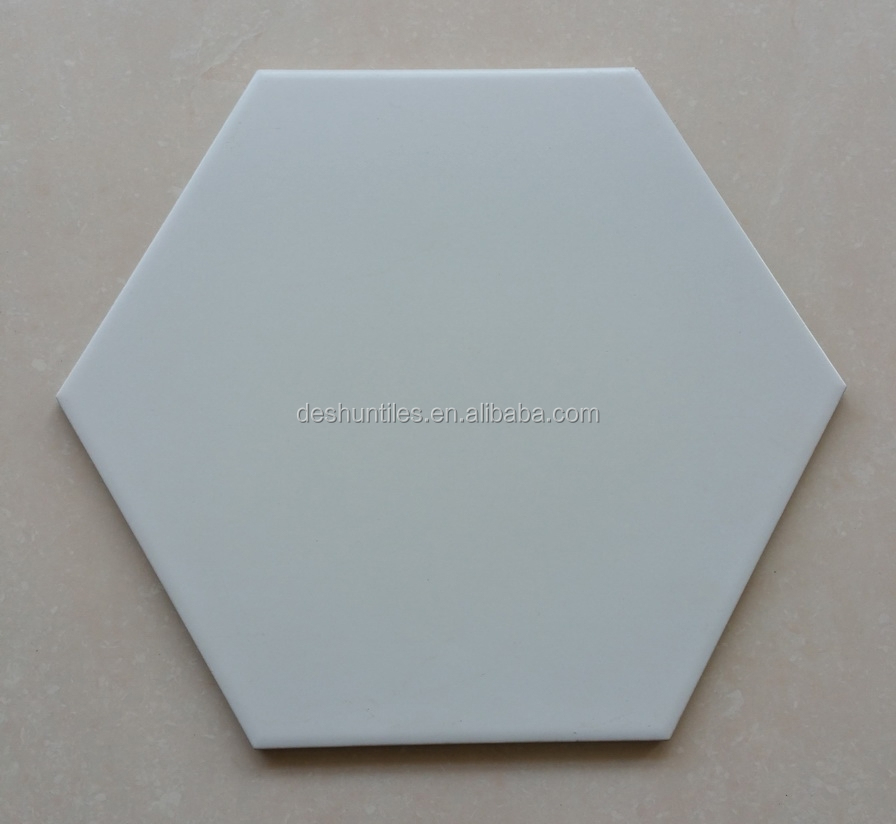 Pure colored hexagon mosaic tile art ceramic tiles for Floor and <strong>Wall</strong>