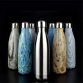 Cola Shaped Vacuum Insulated Stainless Steel Water Bottle Double Walled Printed Cup 500ml Sports Water Bottle