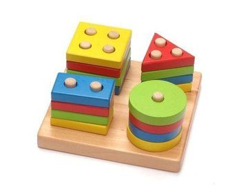 Montessori Counting Shape Sorter - Wooden Kids Activity Learning Toy