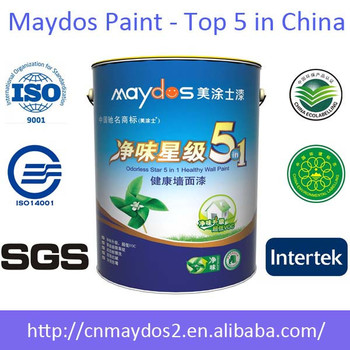 High Quality Maydos Zero VOC Washable Latex Acrylic Resin Interior Silk Plaster Wall  Paint