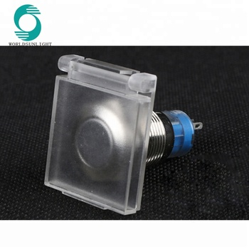 16mm Waterproof Symbol Led Light Metal Push Button Switch With