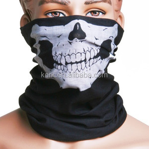 more than 400 stock designs 100% high micro polyester outdoor multifunction skull bandana