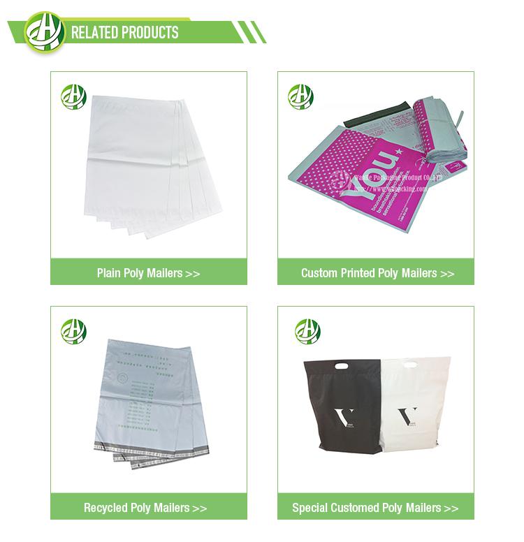 Eco personalizado envelopes poly utentes courier sacos de plástico