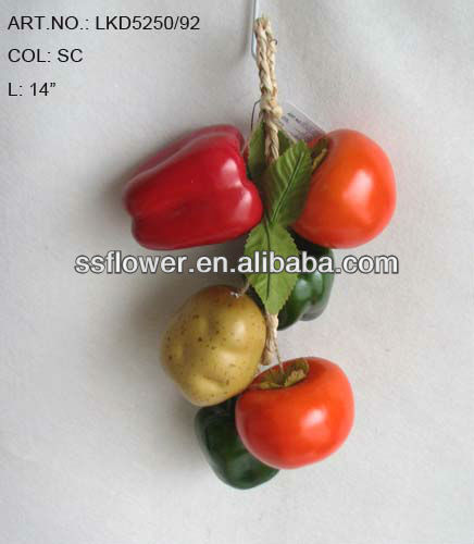 2013 New Artificial Fruits Fake Tomato 14 inch Artificial Potato And Pepper String