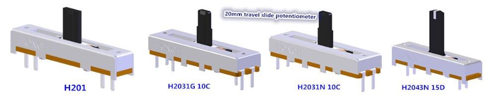 Short Stroke Conductive Single Track B103 10k Plastic Potentiometer Buy 10k Slide Potentiometer Conductive Potentiometer Single Track Slide