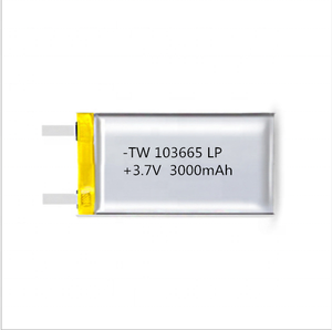 rechargeable mini flat 3.7v 3000mAh 103665 lithium polymer battery