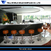 New style promotion bar counter for restaurant decorate bar counter curved bar counter