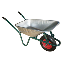 heavy duty metal large builders wheel barrow with wooden handle