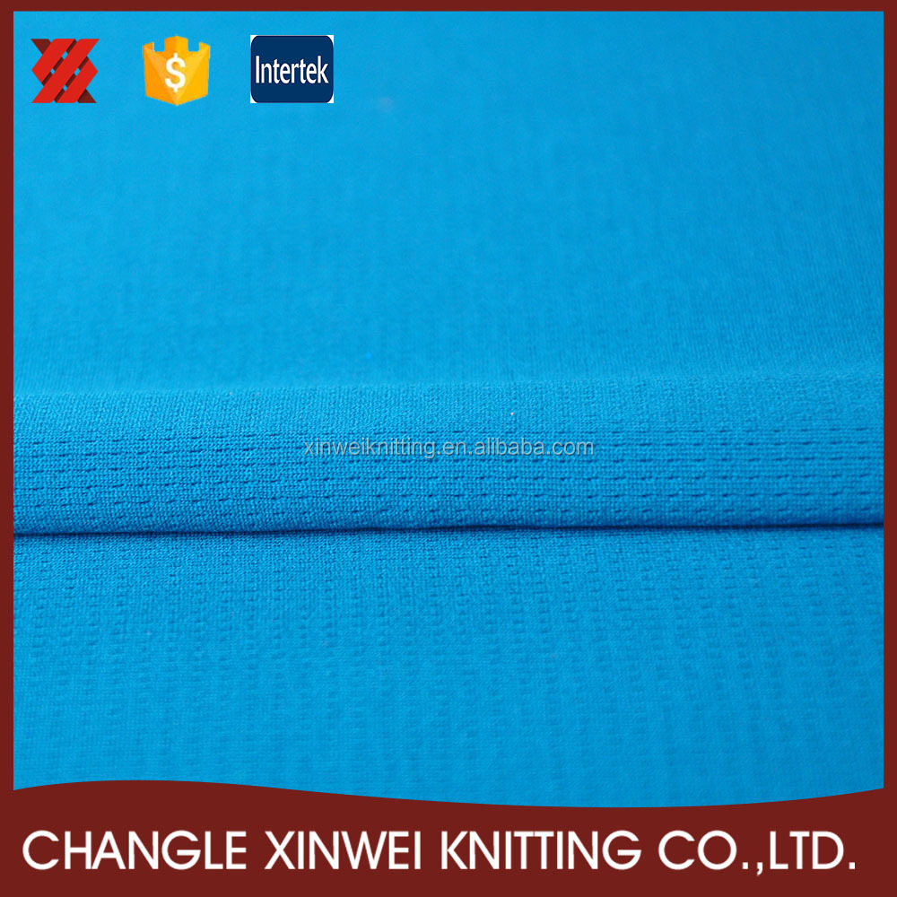 100 polyester mesh material t shirt fabric for hot sale sportswear