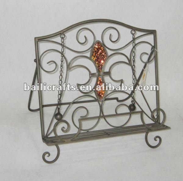 Wholesale handmade home accessory metal cook book stand