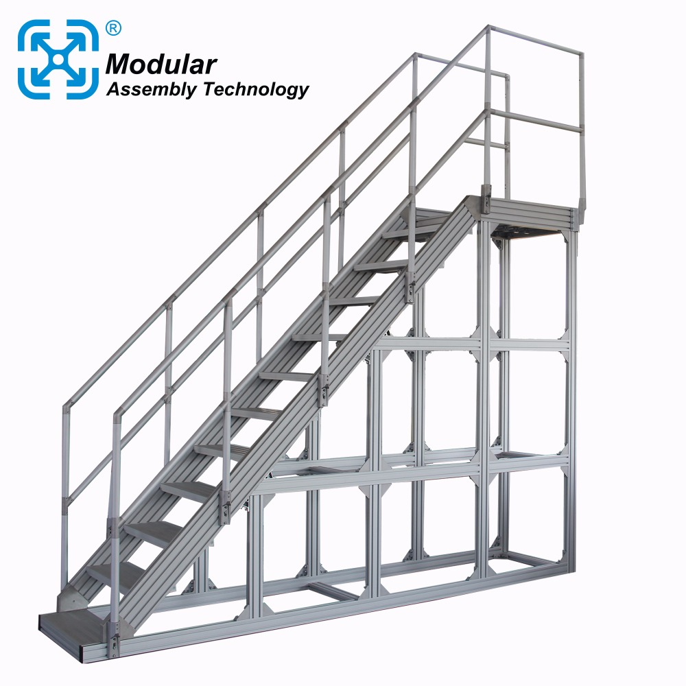 aluminum stair and platform bridge for sorting machine