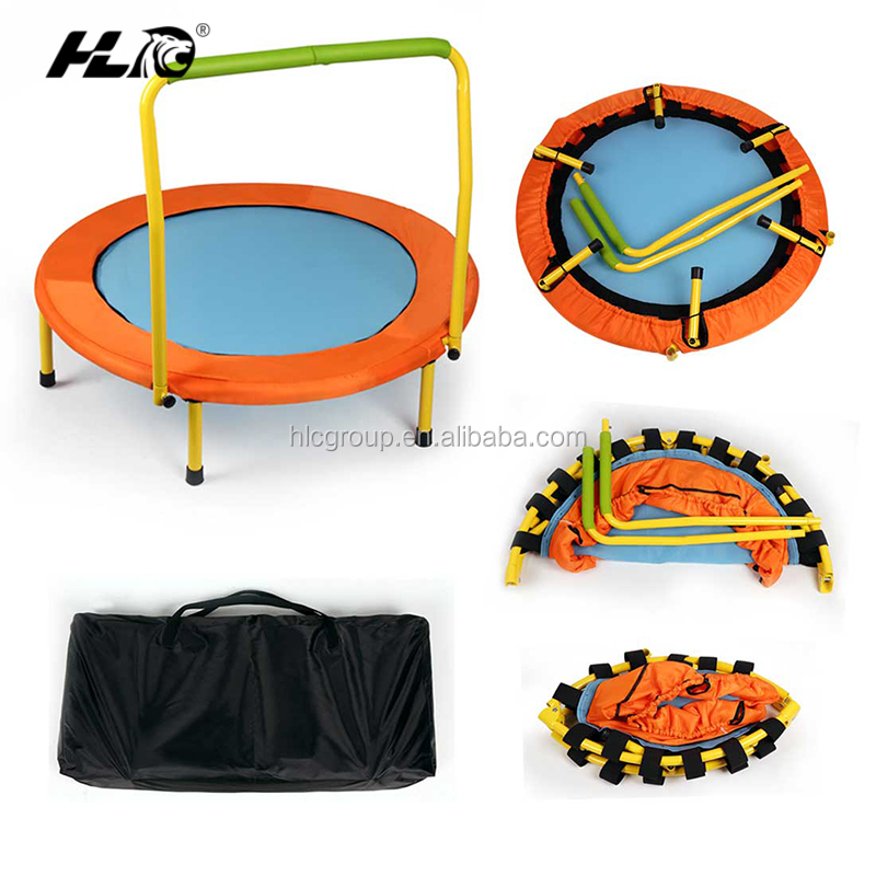 2016 HLC kids trampoline outdoor with Handle OEM/ODM