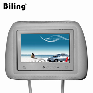 wireless advertising player 7 inch taxi headrest six vedio media ad player hd 3g wifi ad player video LCD digital signage