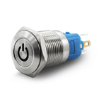 M16 waterproof metal 12 volt mini led light push button micro switch momentary