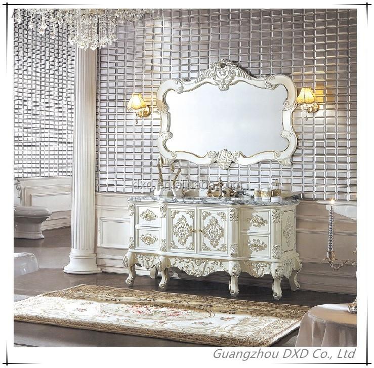 Tocador antiguo blanco entrega rpida antiguo espejo de for Muebles modernos estilo europeo