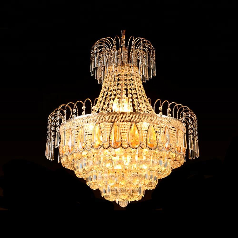 Đèn Chùm Pha Lê Hiện Đại Châu Âu Vàng Cho Phòng Ngủ Phòng Khách Phòng Ăn Treo Đèn Treo