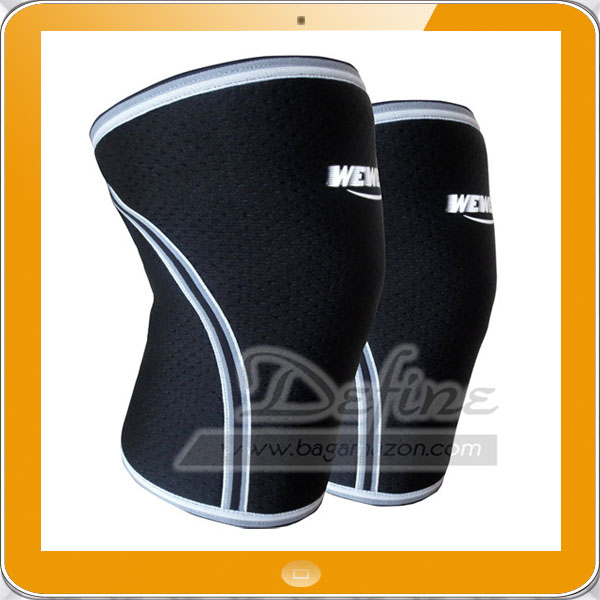 WEWEON 7mm Breathable Neoprene Knee Sleeves Compression for Men Women
