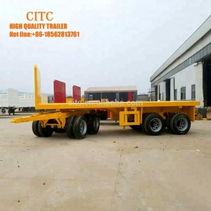 draw bar flatbed super link trolley trailer