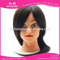 16'' Salon Hairdressing 100% Real Human Hair Styling Training Practice Head + CLAMP HN1921