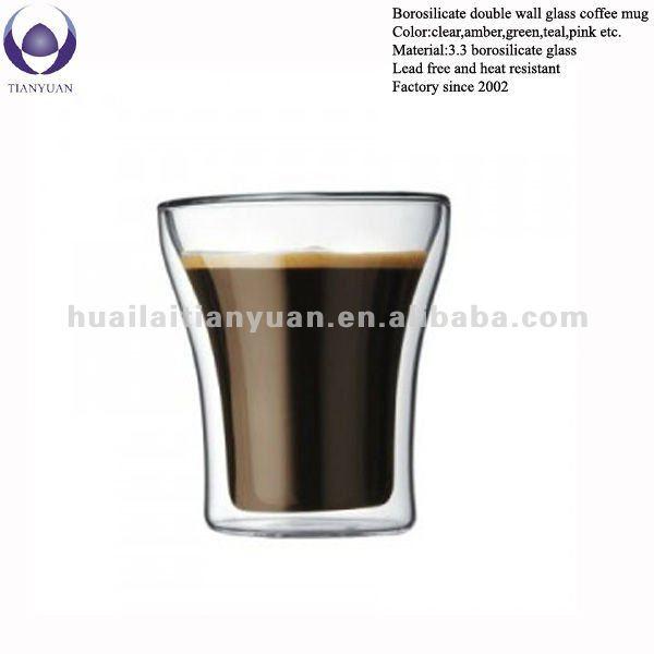 Handmade Borosilicate Double Wall Glass Coffee Mug Buy Handmade