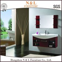 30 Inch Espresso Matt Finish Glass Top Basin Sink Modern Wooden Bathroom Vanity