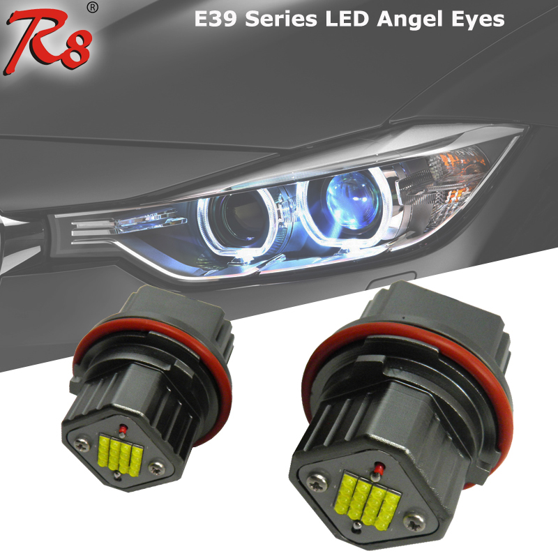 Low price 16 crees XBD leds E39 80W dtm style angel eyes for E53/E65/E66 cob led angel eyes ring for bmw e46