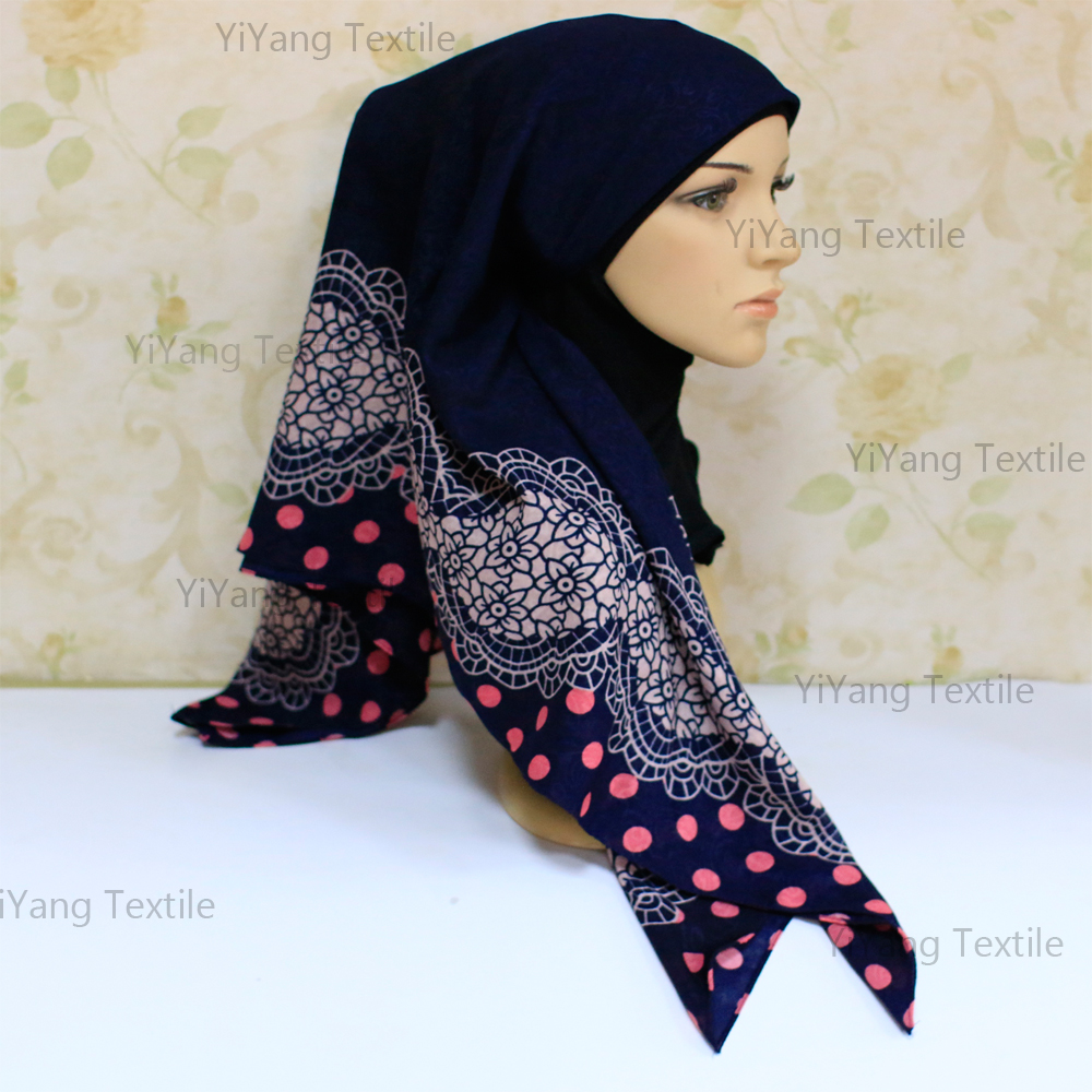 Custom Design Jacquard Scarf and Wraps Muslim Hijab Shawls for Women