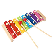 Hand Knock Wood Piano Rhythm Xylophone Kids Children Music Toy