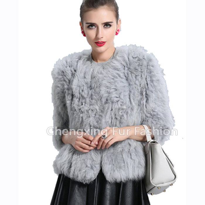 CX-G-A-240B Sheep Fur New Model Latest Coat Designs For Women 2016