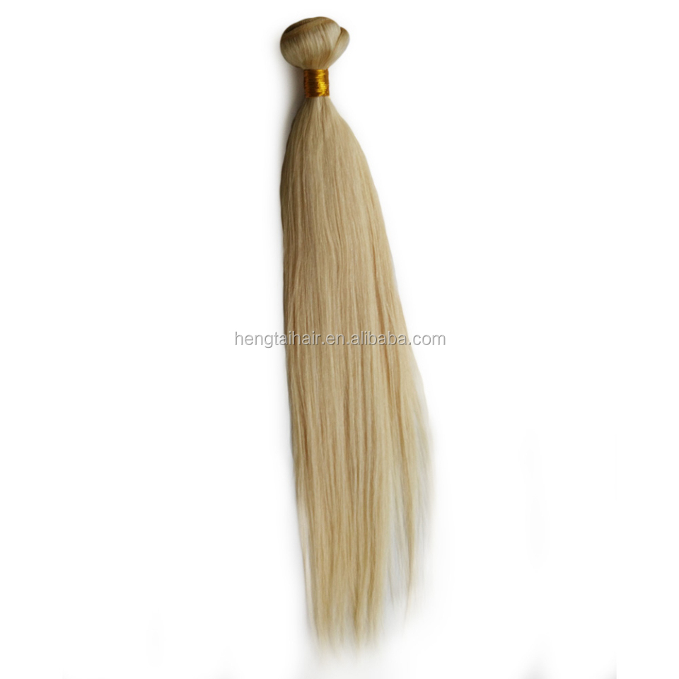 Ombre Weave Brazilian Virgin Hair Straight #613 Blonde Hair Extension Ombre Hair Extensions 1pcs/lot Sample Order Free Shipping
