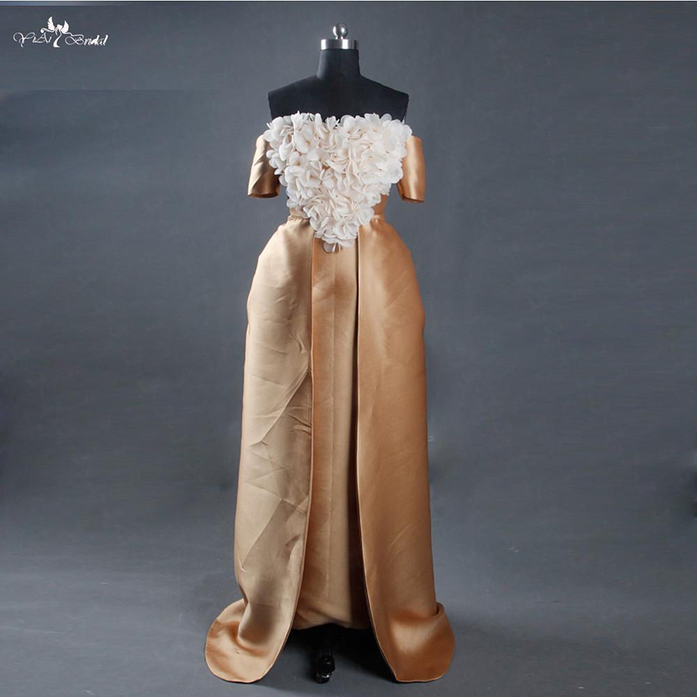 lz165 alibaba feiern kleid Ägypten gold hochzeit kleider mit abnehmbaren  zug hand machen blumen - buy gold,lange zug hochzeitskleid,hochzeit kleider