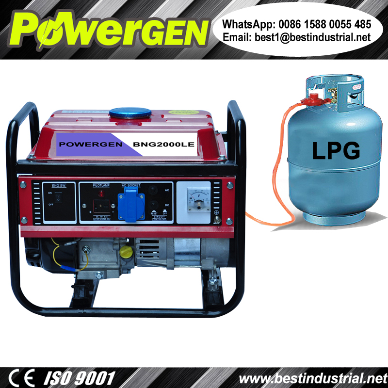 Best Seller!!! POWERGEN Home use Portable Air-cooled Tri-Fuel Gasoline/LPG/Natural Gas Generator 1KW