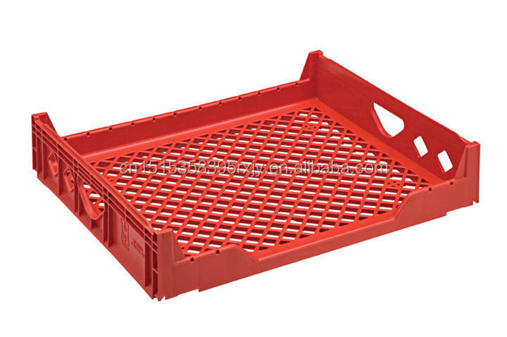 690x445x180mm reusable mesh stackable hygenic Plastic bread crate