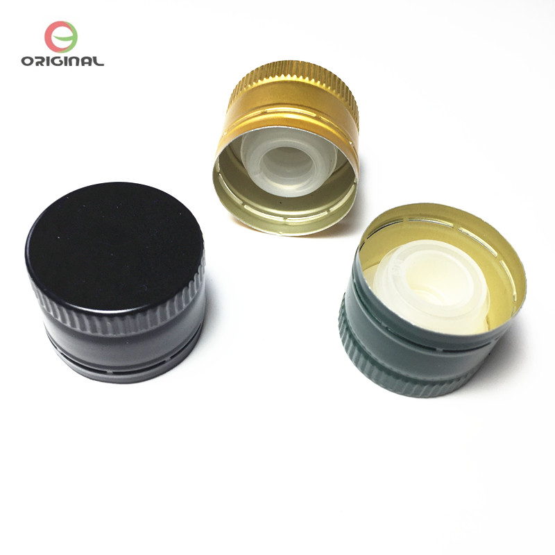 Olive Oil Aluminum caps with Easy Pourer