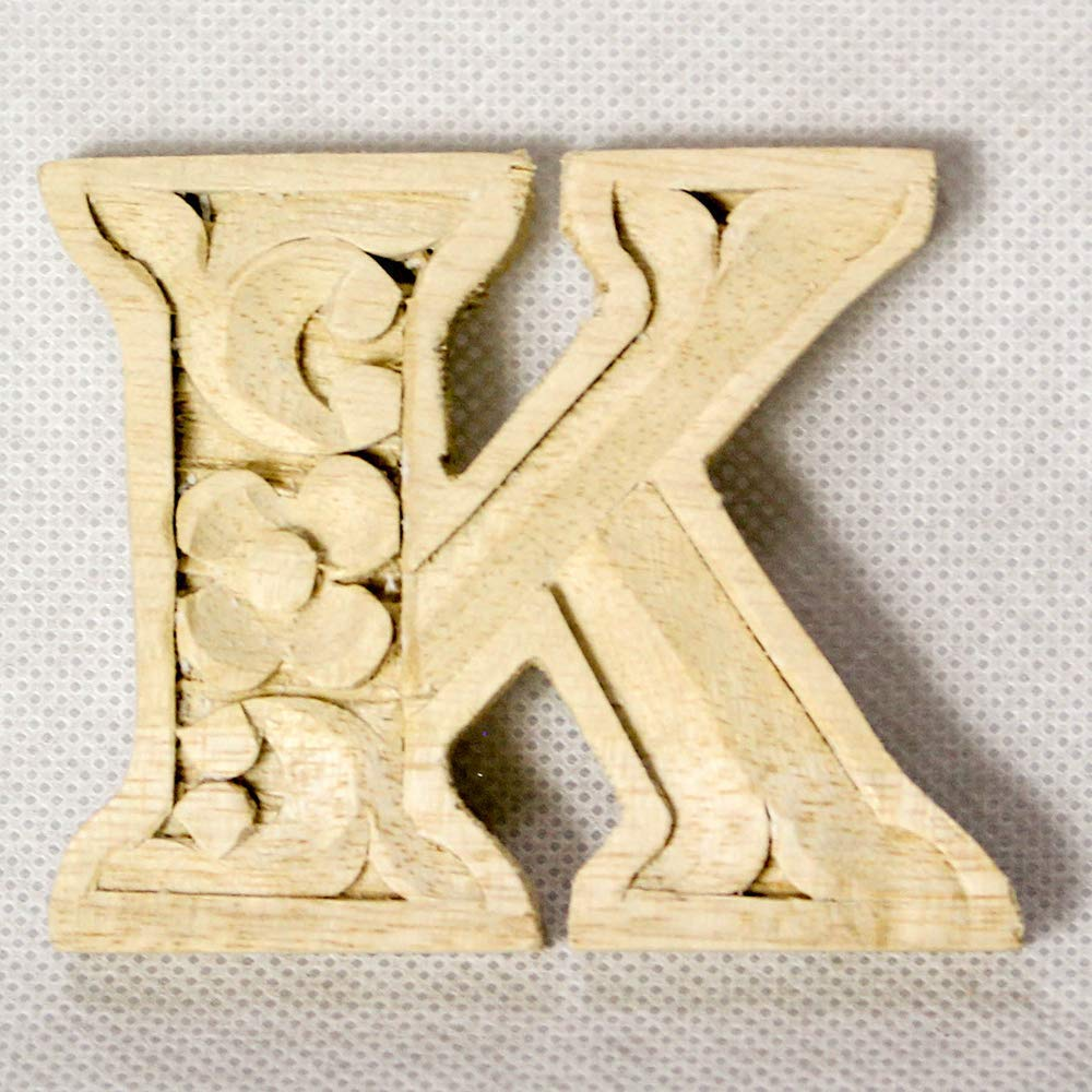 Wooden alphabet letters home decor DIY woodden letters wood carving wooden unfinished wooden letters paint unfinished wall decoration craft silhouette 6cm 9cm 15cm 2.36in 3.54in 5.9in K