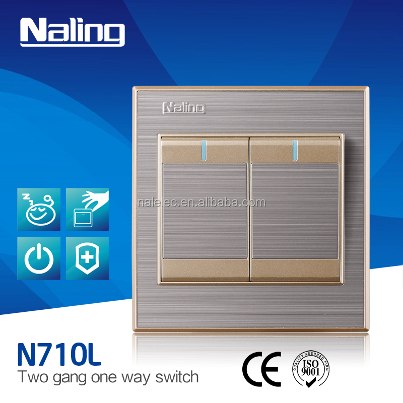 Naling 2 Gang 1 Way led light Switch