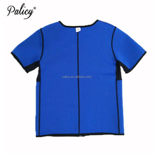 Palicy XXXL Man Sauna Shirt Slimming Sweat Vest Tops Neoprene Body Shapers for Weight Loss with Sleeves Slim Arms
