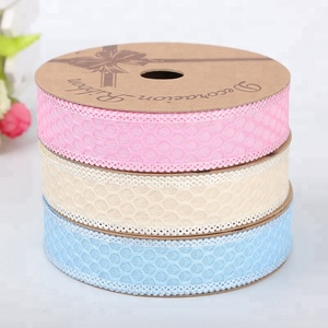 Hot selling good quality attractive style hollow out lace custom design ribbons